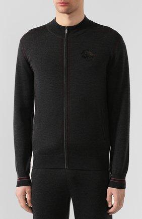 Мужской спортивный костюм из смеси кашемира и шелка ZILLI темно-серого цвета, арт. MBS-J0408-J0ZI1/ML01 | Фото 2