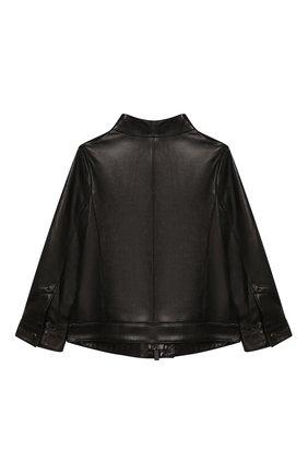 Детского кожаная куртка FENDI черного цвета, арт. JMA167/A8RC/3A-5A | Фото 2