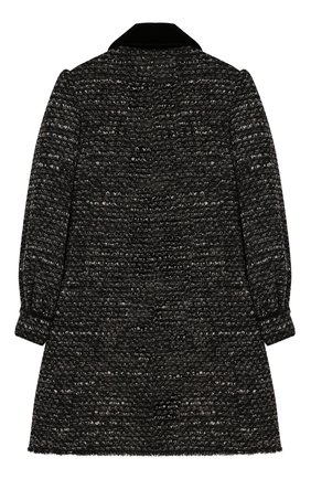 Детское двубортное пальто DOLCE & GABBANA серого цвета, арт. L53C59/HUMDX/8-14 | Фото 2