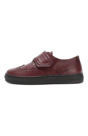 Детские кожаные туфли GALLUCCI бордового цвета, арт. J20032NM/SC P V G0M VIT/VIT | Фото 2