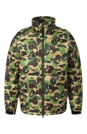 Мужская пуховая куртка BAPE зеленого цвета, арт. 1F80141019 | Фото 1
