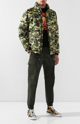 Мужская пуховая куртка BAPE зеленого цвета, арт. 1F80141019 | Фото 2