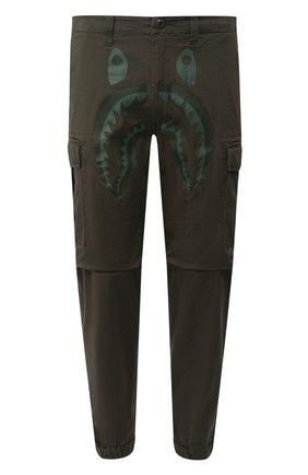 Мужской хлопковые брюки-карго BAPE хаки цвета, арт. 1F70152013 | Фото 1