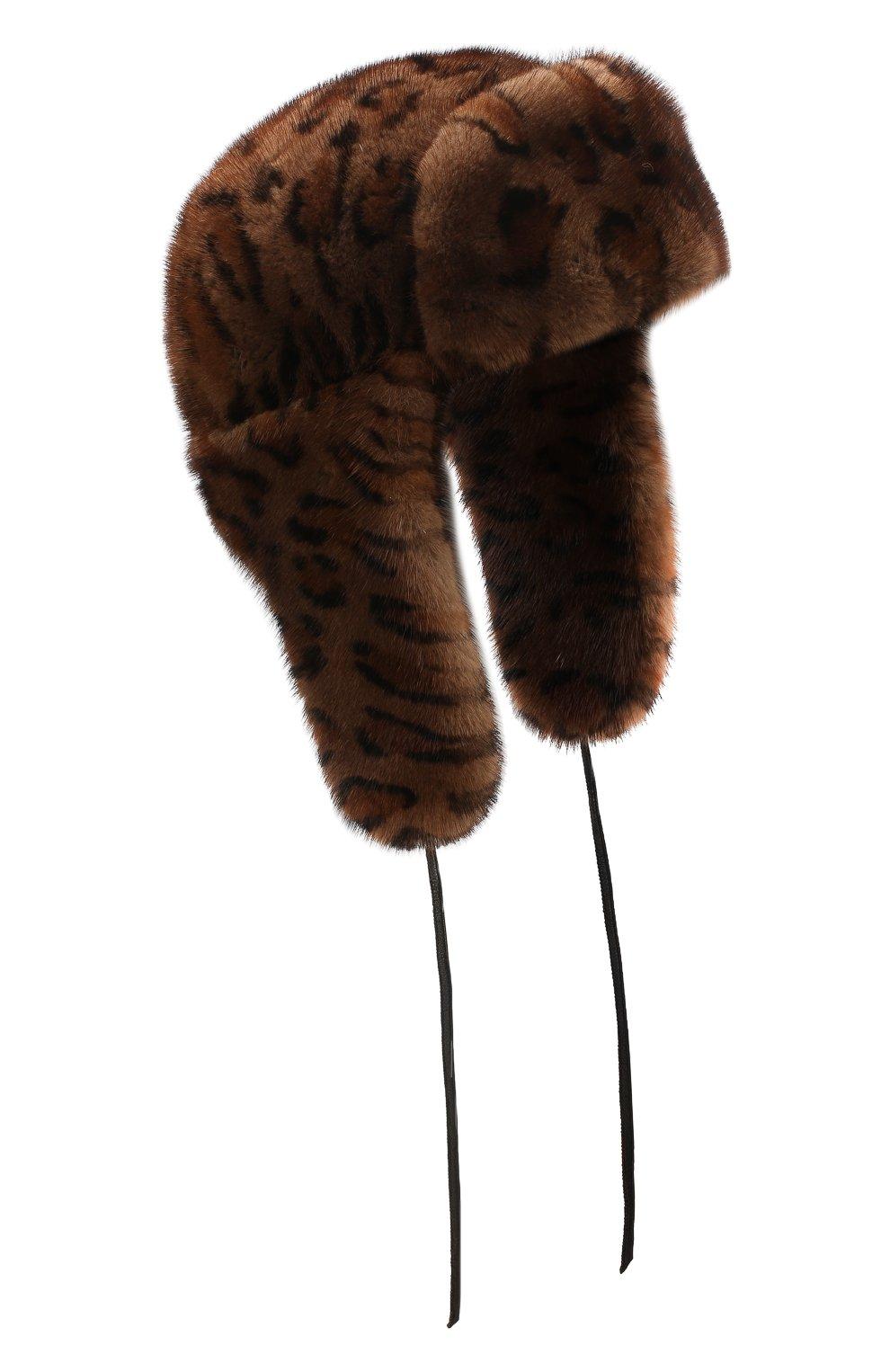 Женская шапка-ушанка из меха норки FURLAND коричневого цвета, арт. 0098000110026300000   Фото 1