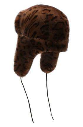 Женская шапка-ушанка из меха норки FURLAND коричневого цвета, арт. 0098000110026300000   Фото 2
