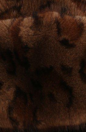 Женская шапка-ушанка из меха норки FURLAND коричневого цвета, арт. 0098000110026300000   Фото 3