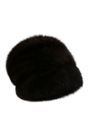Женская шапка из меха соболя KUSSENKOVV темно-коричневого цвета, арт. 063500004679   Фото 1 (Материал: Натуральный мех)