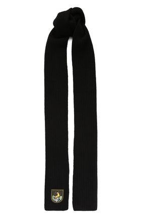 Мужской шерстяной шарф KENZO черного цвета, арт. F968EU139KEE | Фото 1
