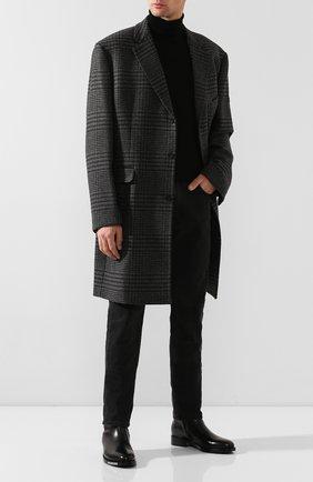 Мужские кожаные сапоги BALENCIAGA черного цвета, арт. 590717/WA6F0 | Фото 2
