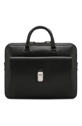 Мужская кожаная сумка для ноутбука DUNHILL черного цвета, арт. DU19F3805AR | Фото 1