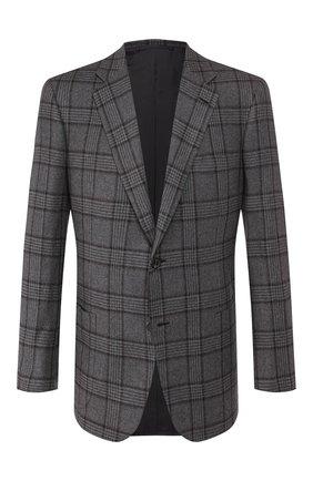 Мужской кашемировый пиджак BRIONI серого цвета, арт. RGH00L/08315/PARLAMENT0 | Фото 1