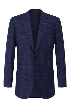 Мужской кашемировый пиджак BRIONI синего цвета, арт. RGH00L/08362/PARLAMENT0 | Фото 1