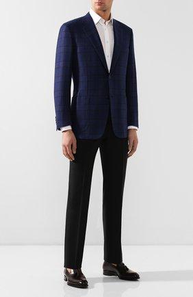 Мужской кашемировый пиджак BRIONI синего цвета, арт. RGH00L/08362/PARLAMENT0 | Фото 2