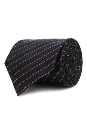 Мужской шелковый галстук HUGO темно-синего цвета, арт. 50423436 | Фото 1