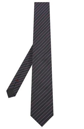 Мужской шелковый галстук HUGO темно-синего цвета, арт. 50423436 | Фото 2