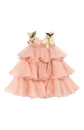 Женская шелковое платье с шортами DOLCE & GABBANA светло-розового цвета, арт. L21DR6/FU1BU | Фото 2