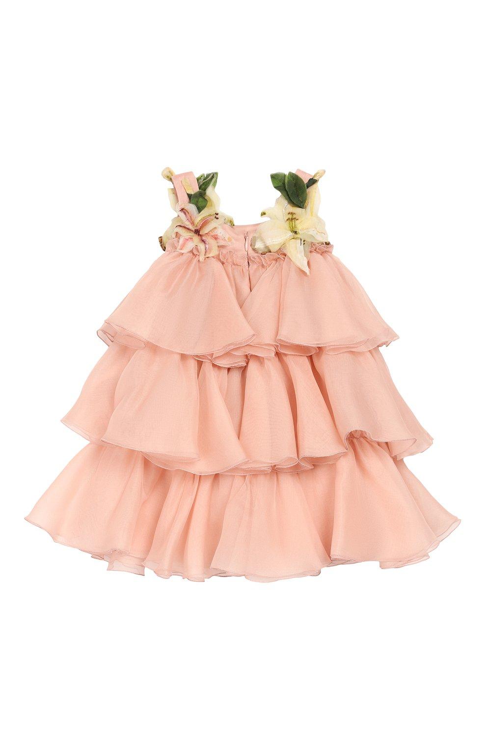 Женская шелковое платье с шортами DOLCE & GABBANA светло-розового цвета, арт. L21DR6/FU1BU | Фото 3