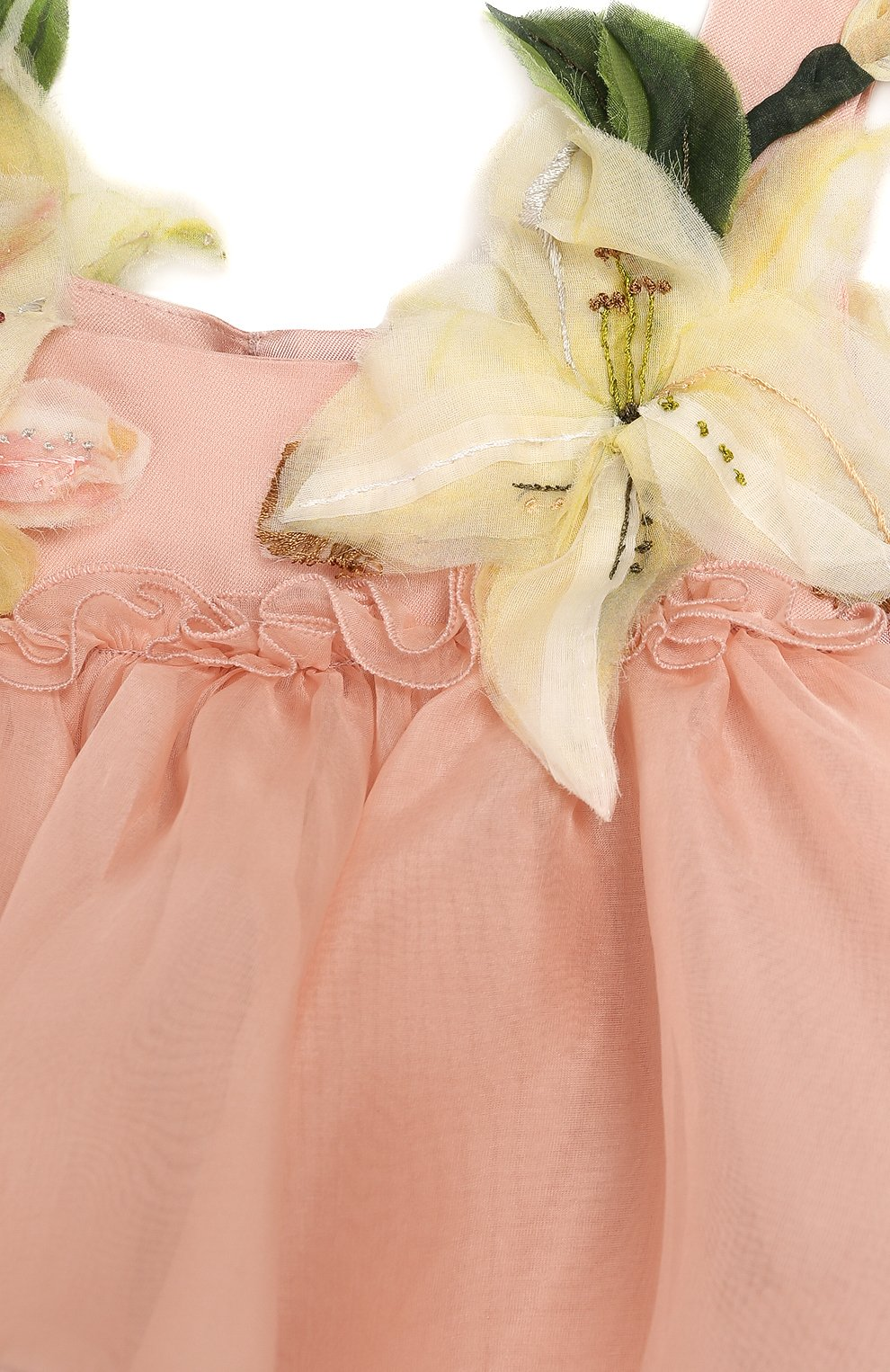 Женская шелковое платье с шортами DOLCE & GABBANA светло-розового цвета, арт. L21DR6/FU1BU | Фото 4
