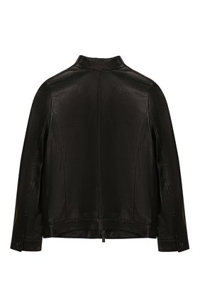 Детского кожаная куртка FENDI черного цвета, арт. JMA167/A8RC/6A-8A | Фото 2