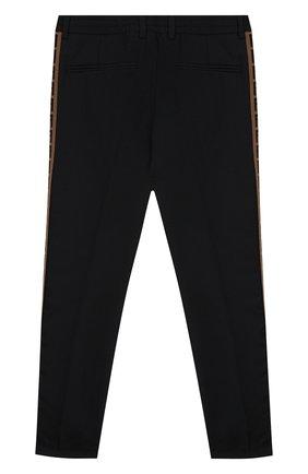 Детские шерстяные брюки FENDI синего цвета, арт. JMF235/A8DQ/10A-12+ | Фото 2