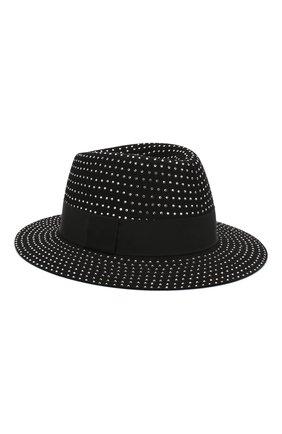 Женская фетровая шляпа SAINT LAURENT черного цвета, арт. 580333/3YA58 | Фото 1