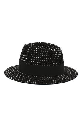Женская фетровая шляпа SAINT LAURENT черного цвета, арт. 580333/3YA58 | Фото 2