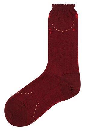 Женские носки ANTIPAST бордового цвета, арт. AM-720 | Фото 1