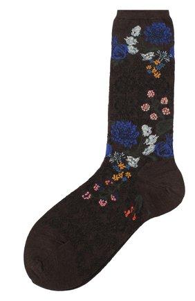 Женские носки ANTIPAST темно-коричневого цвета, арт. AM-722 | Фото 1