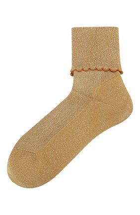 Женские носки ANTIPAST золотого цвета, арт. ANP-56E/GS | Фото 1