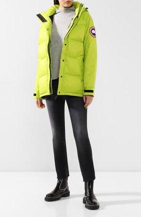 Женский пуховая куртка approach CANADA GOOSE зеленого цвета, арт. 2078L | Фото 2