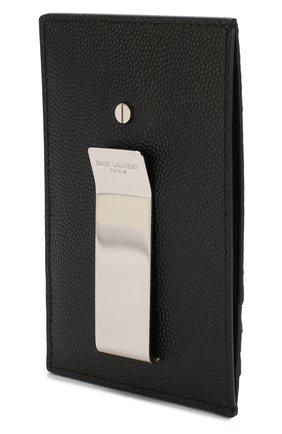 Мужской кожаный футляр для кредитных карт SAINT LAURENT черного цвета, арт. 584105/BTY0N | Фото 2