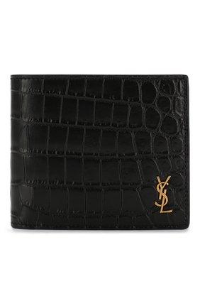 Мужской кожаное портмоне SAINT LAURENT черного цвета, арт. 607734/DZEDW | Фото 1