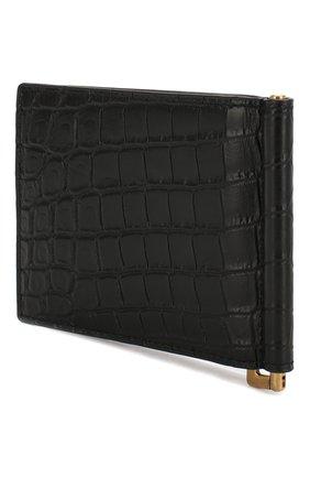 Мужской кожаный зажим для денег SAINT LAURENT черного цвета, арт. 607738/DZEDW | Фото 2