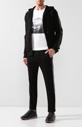Мужской хлопковые брюки DIESEL черного цвета, арт. 00S3AV/0PAWZ | Фото 2