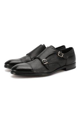Мужские кожаные монки H`D`S`N BARACCO черного цвета, арт. 64207.20* | Фото 1