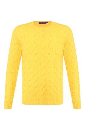 Мужской кашемировый джемпер RALPH LAUREN желтого цвета, арт. 790509405 | Фото 1