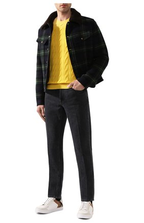 Мужской кашемировый джемпер RALPH LAUREN желтого цвета, арт. 790509405 | Фото 2