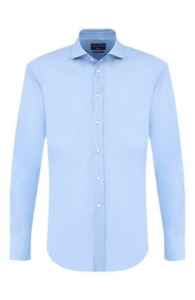 Мужская хлопковая сорочка RALPH LAUREN голубого цвета, арт. 791769934 | Фото 1