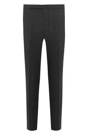 Мужские шерстяные брюки RALPH LAUREN темно-серого цвета, арт. 798730107 | Фото 1 (Материал внешний: Шерсть; Материал подклада: Вискоза; Случай: Формальный; Стили: Классический)