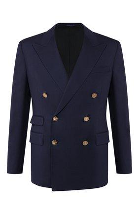 Мужской шерстяной пиджак RALPH LAUREN темно-синего цвета, арт. 798766049 | Фото 1