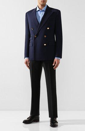 Мужской шерстяной пиджак RALPH LAUREN темно-синего цвета, арт. 798766049 | Фото 2