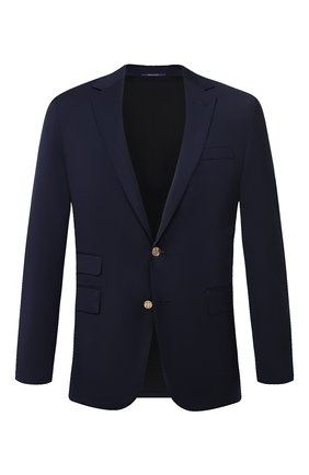 Мужской шерстяной пиджак RALPH LAUREN темно-синего цвета, арт. 798766050 | Фото 1