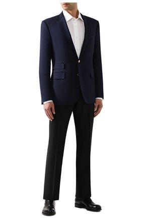 Мужской шерстяной пиджак RALPH LAUREN темно-синего цвета, арт. 798766050 | Фото 2