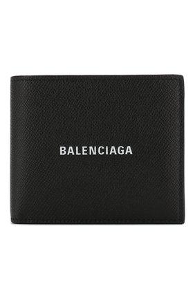 Мужской кожаное портмоне BALENCIAGA черно-белого цвета, арт. 594315/00TV3 | Фото 1