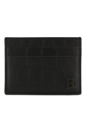 Мужской кожаный футляр для кредитных карт BALENCIAGA черного цвета, арт. 601347/1JU77 | Фото 1