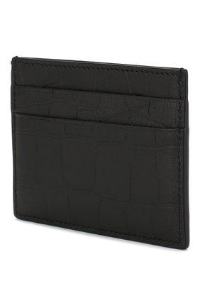 Мужской кожаный футляр для кредитных карт BALENCIAGA черного цвета, арт. 601347/1JU77 | Фото 2