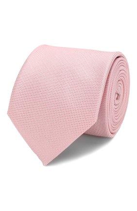 Мужской шелковый галстук HUGO светло-розового цвета, арт. 50423420 | Фото 1