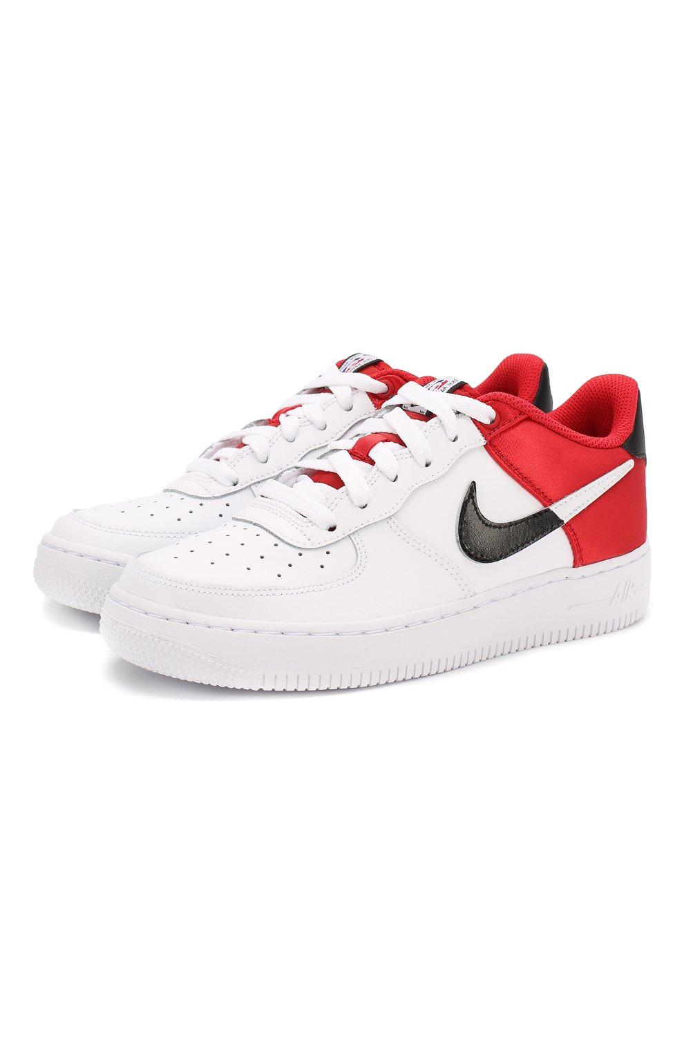 Кеды Nike Air Force 1 NBA Low NIKE белого цвета — купить за 6370 руб. в интернет-магазине ЦУМ, арт. CK0502-600