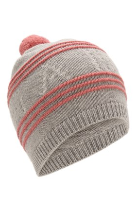 Детского кашемировая шапка LORO PIANA серого цвета, арт. FAI7769 | Фото 1
