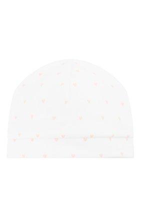 Детского хлопковая шапка LES LUTINS белого цвета, арт. 19H11744 | Фото 1